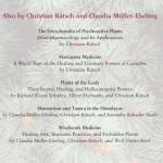 la page de garde montre les références chamaniques de Rätsch et Müller-Ebelling